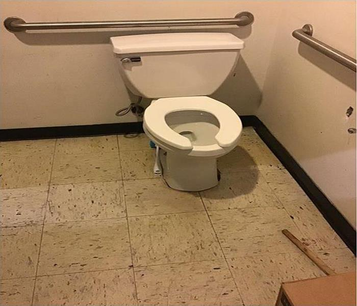 toilet with tile floor