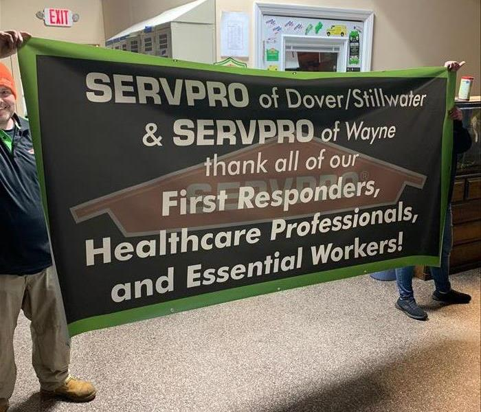 SERVPRO sign thanking first responders